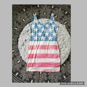 American flag dress by Charlotte Russe size L